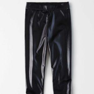 American eagle studio faux leather leggings